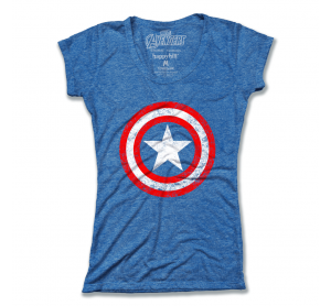 Captain America Shield Distressed Girly